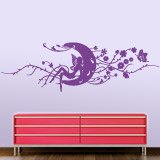 Wall Stickers: Magic fairy over the floral moon 2