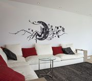 Wall Stickers: Magic fairy over the floral moon 3