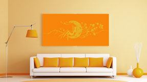 Wall Stickers: Magic fairy over the floral moon 5