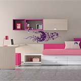 Wall Stickers: Magic fairy over the floral moon 6