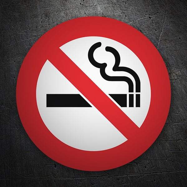 Car and Motorbike Stickers: No smoking 6