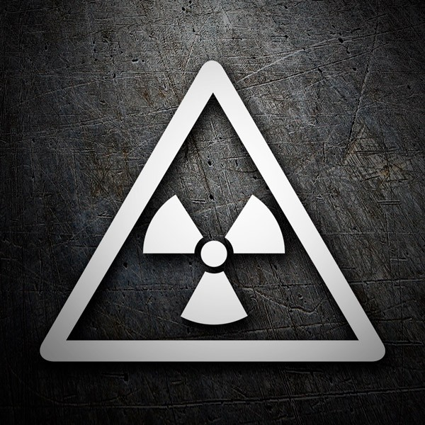 Car & Motorbike Stickers: Radioactivity alert