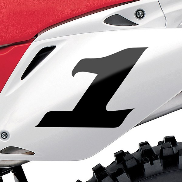 Car & Motorbike Stickers: Number 1