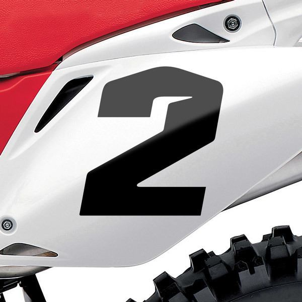 Car and Motorbike Stickers: Number 2 Speed