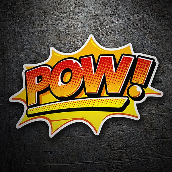 Car & Motorbike Stickers: POW! orange