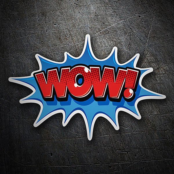 Car & Motorbike Stickers: WOW! red