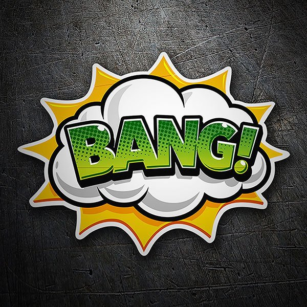 Car & Motorbike Stickers: BANG! green