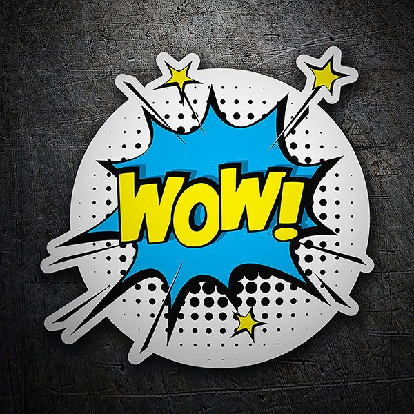 Car & Motorbike Stickers: WOW! yellow