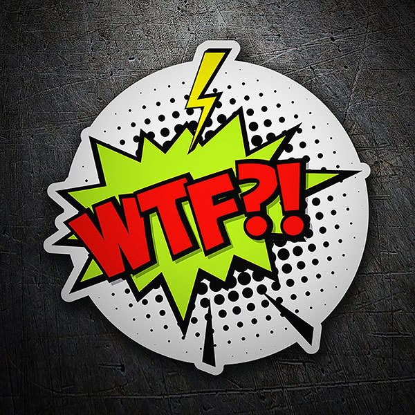 Car & Motorbike Stickers: WTF?! red