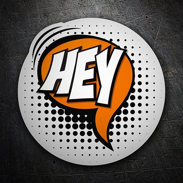 Car & Motorbike Stickers: HEY white