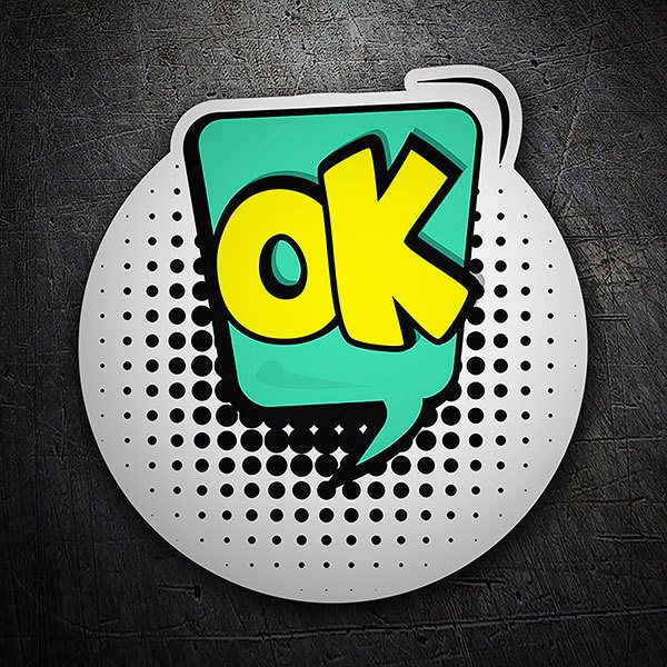 Car & Motorbike Stickers: OK yellow