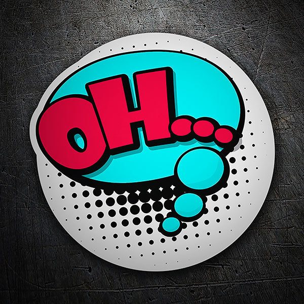 Car & Motorbike Stickers: OH... magenta