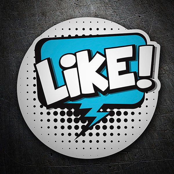 Car & Motorbike Stickers: LIKE! white