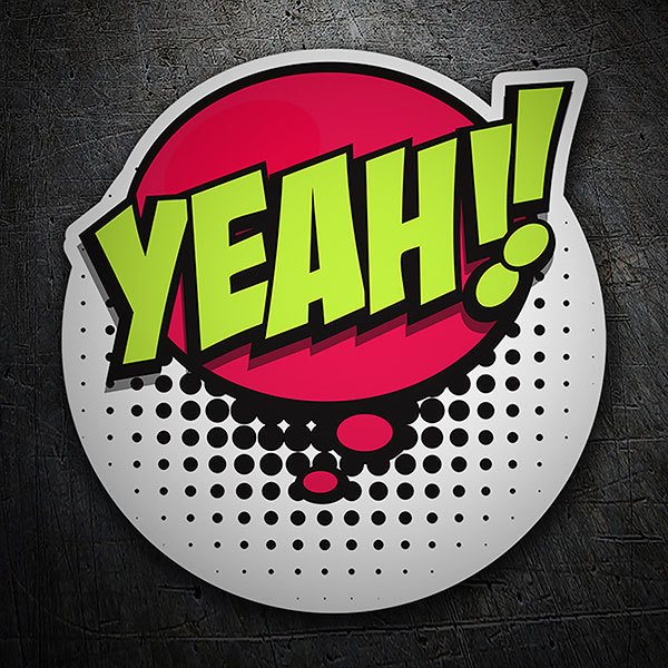 Car & Motorbike Stickers: YEAH! green
