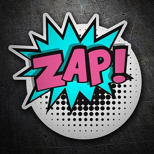 Car & Motorbike Stickers: ZAP! violet