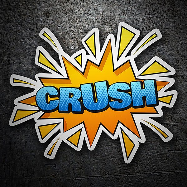 Car & Motorbike Stickers: CRUSH blue