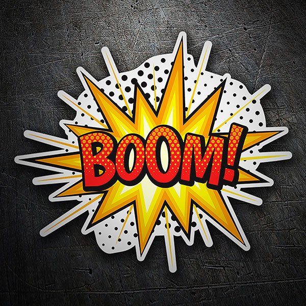 Car & Motorbike Stickers: BOOM! red
