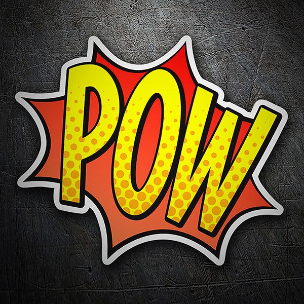 Car & Motorbike Stickers: POW! yellow