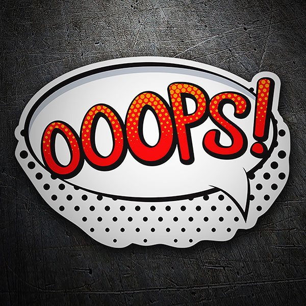 Car & Motorbike Stickers: OOOPS! red