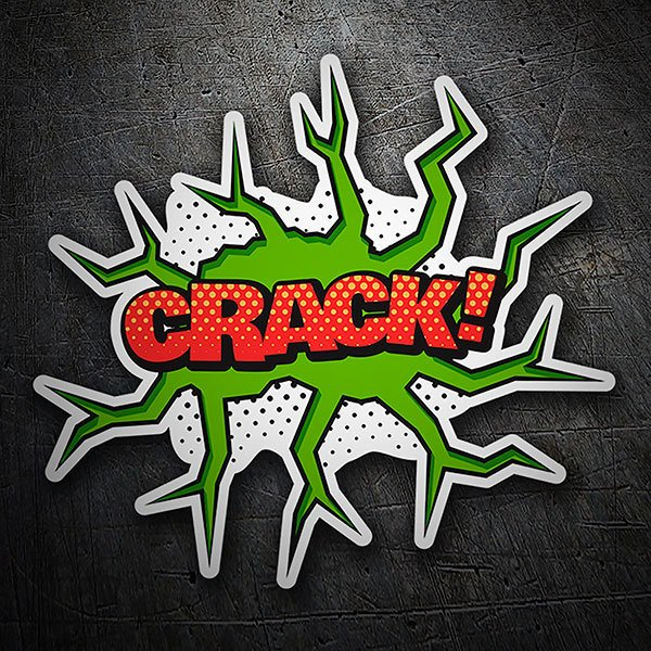 Car & Motorbike Stickers: CRACK! red