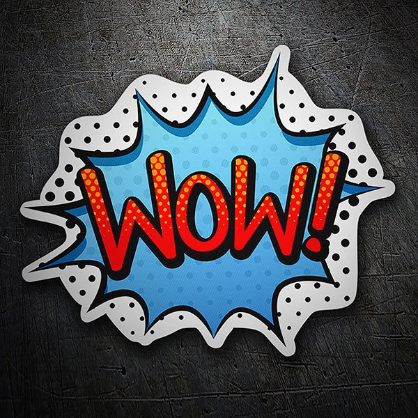 Car & Motorbike Stickers: WOW! red and blue