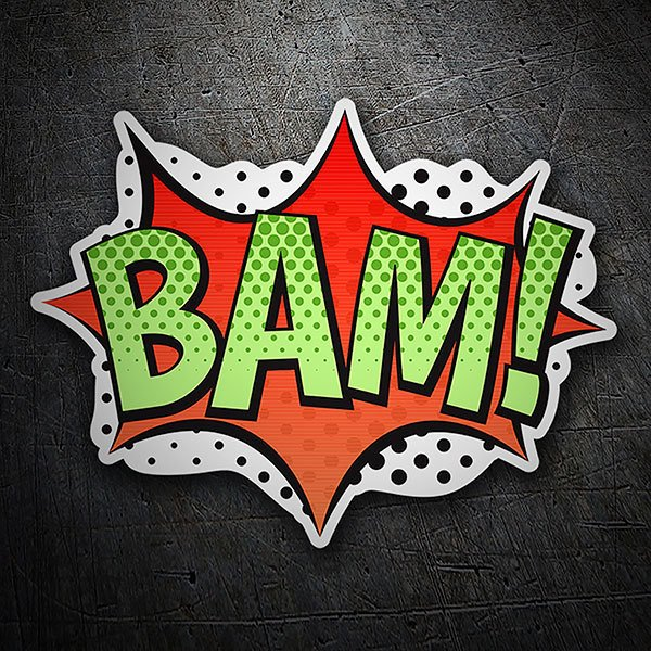 Car & Motorbike Stickers: BAM! green