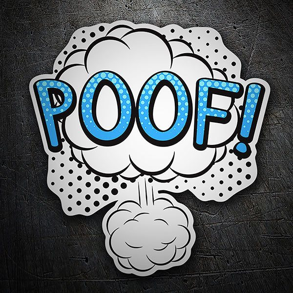 Car & Motorbike Stickers: POOF! blue