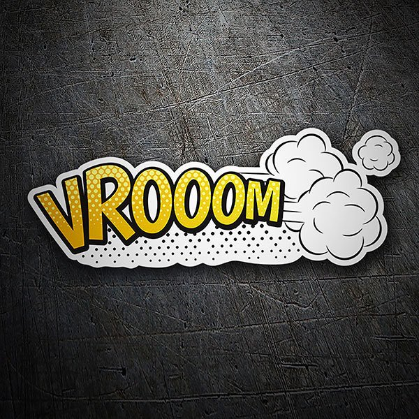Car & Motorbike Stickers: VROOOM yellow