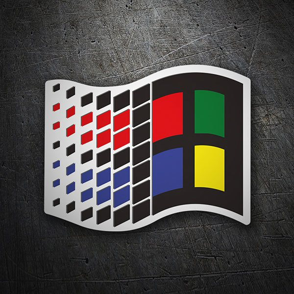 Car & Motorbike Stickers: Microsoft Windows 95