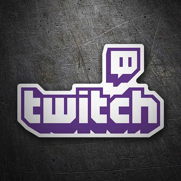 Car & Motorbike Stickers: Twitch Logo