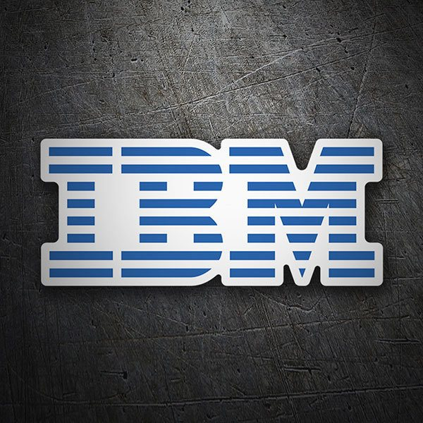 Car & Motorbike Stickers: IBM