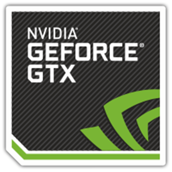 Car & Motorbike Stickers: NVIDIA GeForce GTX