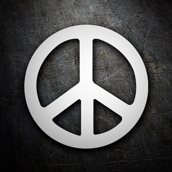 Car and Motorbike Stickers: Peace