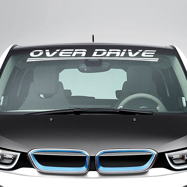 Car and Motorbike Stickers: Over Drive Windshield Sunstrip