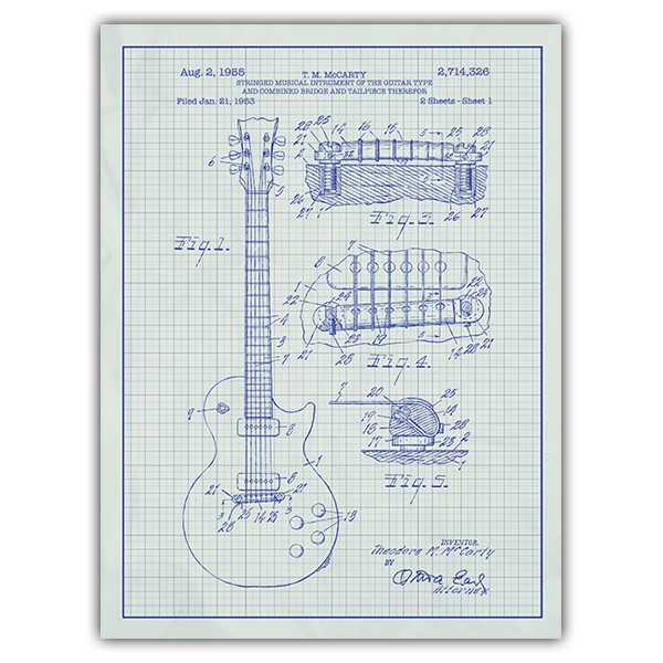 Wall Stickers: Gibson Les Paul electric guitar