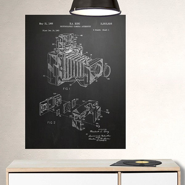 Wall Stickers: Photographic camera chalkboard