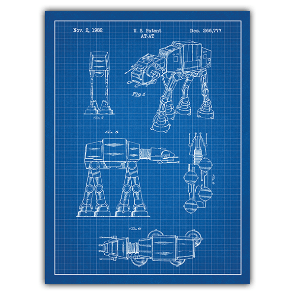 Wall Stickers: AT-AT blue patent 0