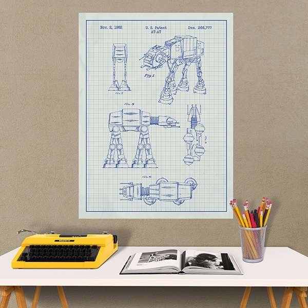 Wall Stickers: AT-AT white patent
