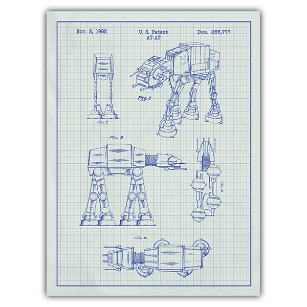 Wall Stickers: AT-AT white patent 0