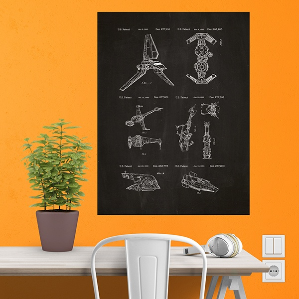 Wall Stickers: Star Wars ships board patent 1