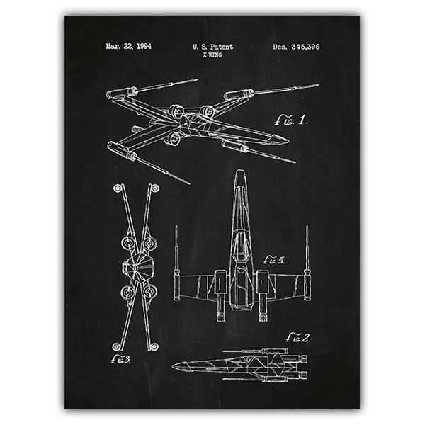 Wall Stickers: X-Wing board patent
