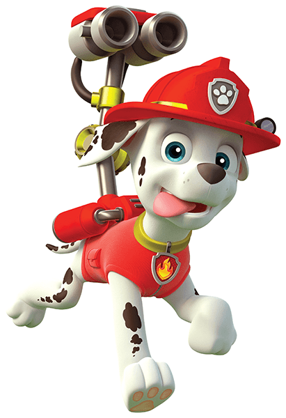 Stickers for Kids: Paw Patrol - Marshall in Action