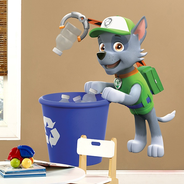Stickers for Kids: Paw Patrol - Rocky recycling