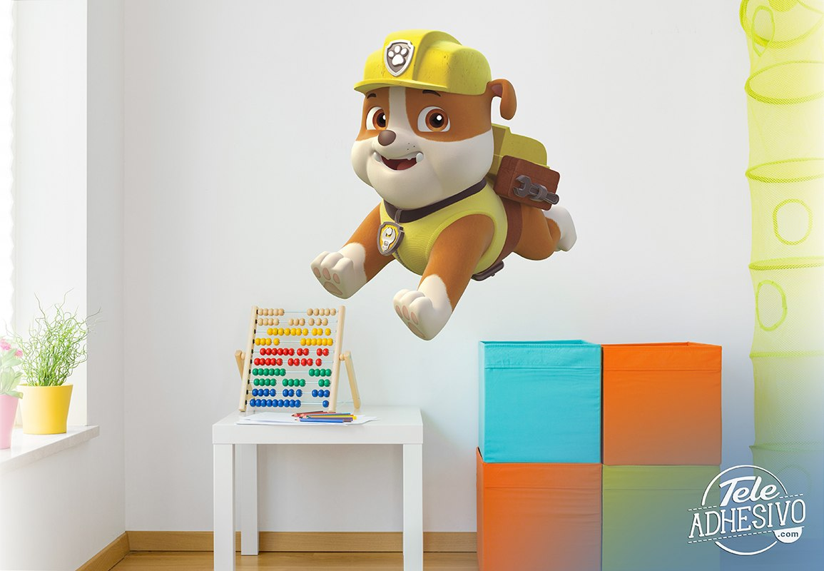 Stickers for Kids: Paw Patrol - Rubble in Action