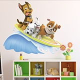Stickers for Kids: Paw Patrol - Chase, Marshall and Rubble surf 3