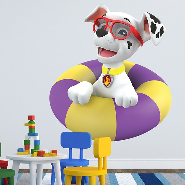Stickers for Kids: Paw Patrol - Marshall with float