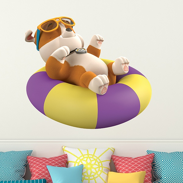 Stickers for Kids: Paw Patrol - Rubble with float