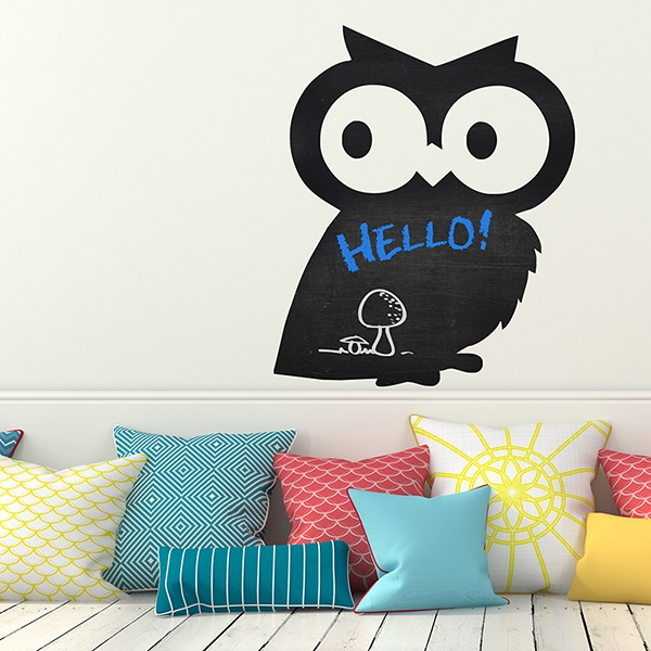 Stickers for Kids: Slate owl 2
