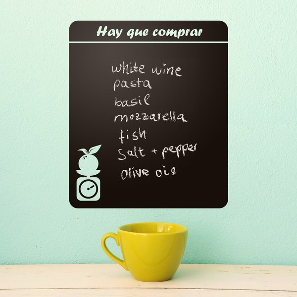 Wall Stickers: Chalkboard Shopping list