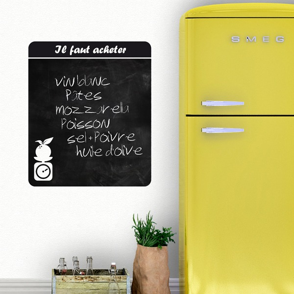 Wall Stickers: Chalkboard Shopping list French